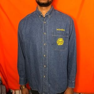 The Lion King Broadway long sleeve denim button up
